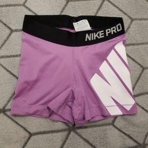 """C2 Nike Pro Dri-Fit Pink Tight Fit 3"""" Training"""